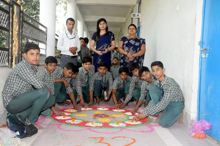 Vaishali Central Public School-Rangoli Competition