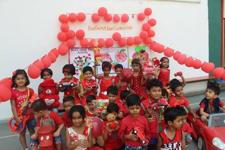 New Rainbow Public School-Red day celebrations