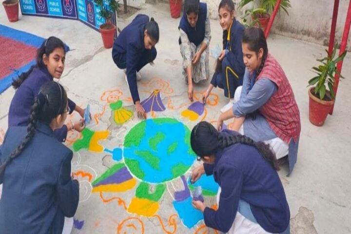 Noble Public School-Rangoli