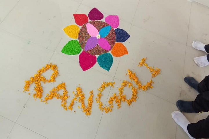 Om Public School-Rangoli Competition