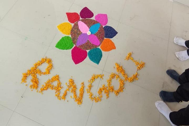 Om Public School-Rangoli Competition