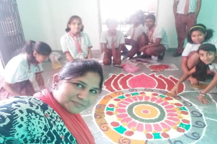 Vidya Sanskar School-Rangoli Competition