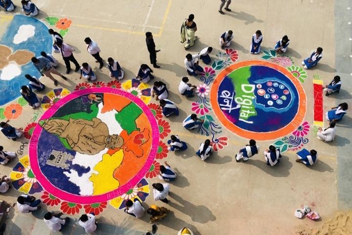 Parvez Khan Sajida Public School - Rongoli Competition