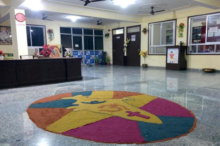 Vivekanand International Public School rangoli