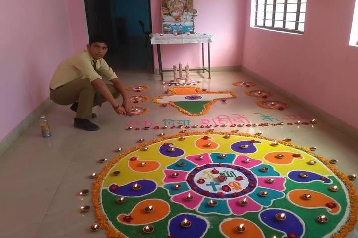 R G Public School-Rangoli