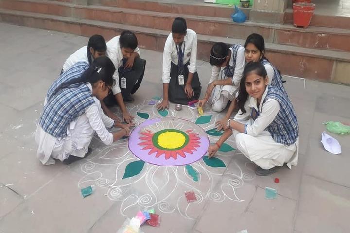 Radha International Academy-Rangoli