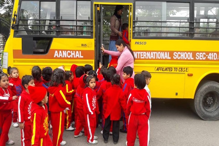 Aanchal international school-Bus