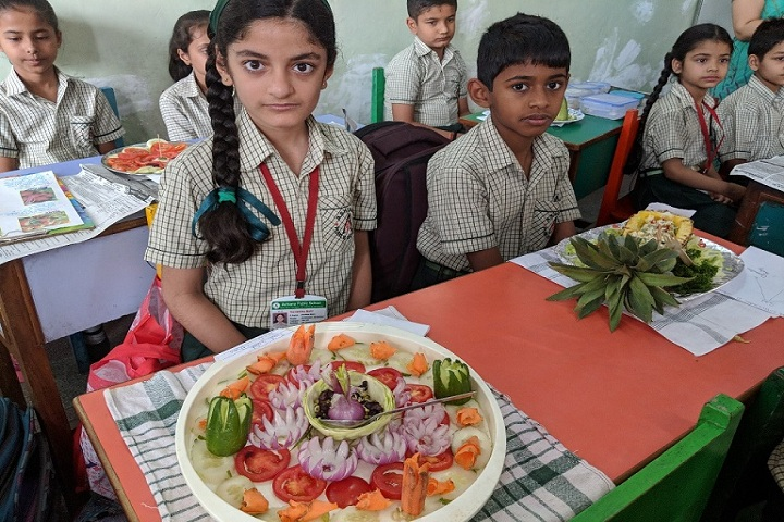 Ashiana Public School- salad decoration