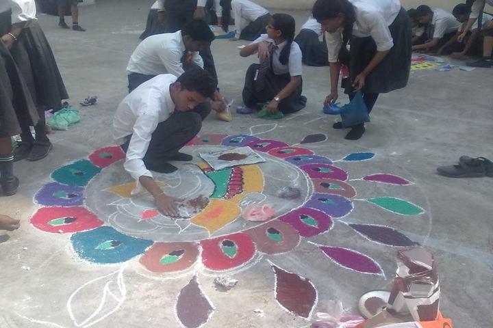 Ram Lakhan Bhatt International School-Rangoli