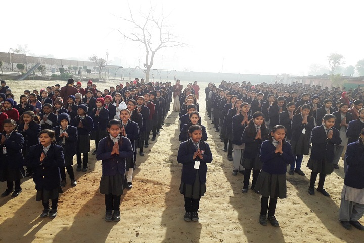 Rishikul International School-assembly