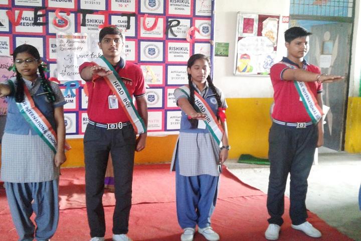 Rishikul International School-investitude ceremony