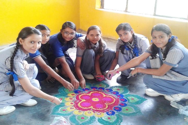 Rishikul International School-rangoli competition