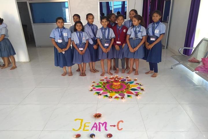 Royal Public School- rangoli