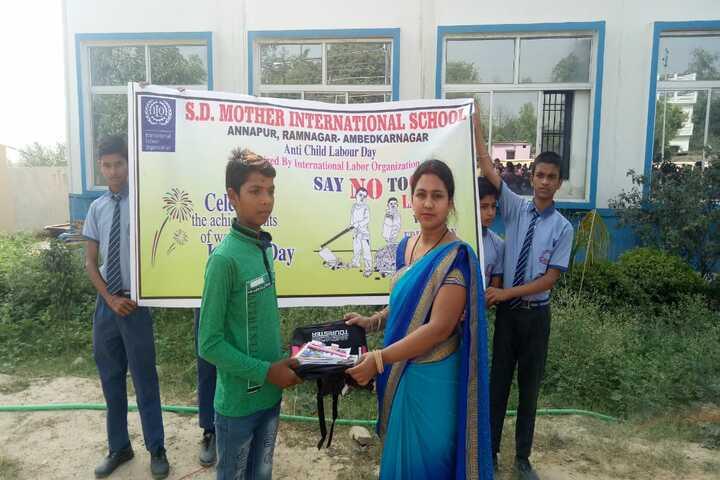 S D Mother International School- Anti Child Labour Day
