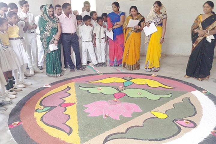 S V Children School-Rangoli Competition