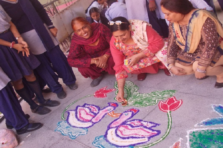 Government model high school-rangoli1