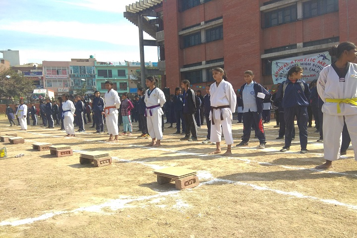 Government model high school-sports day