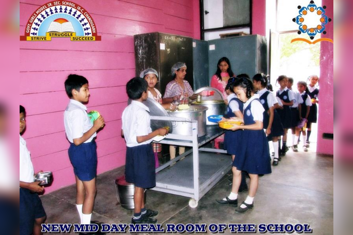 Government Girls Senior Secondary School-Food Distribution to the student