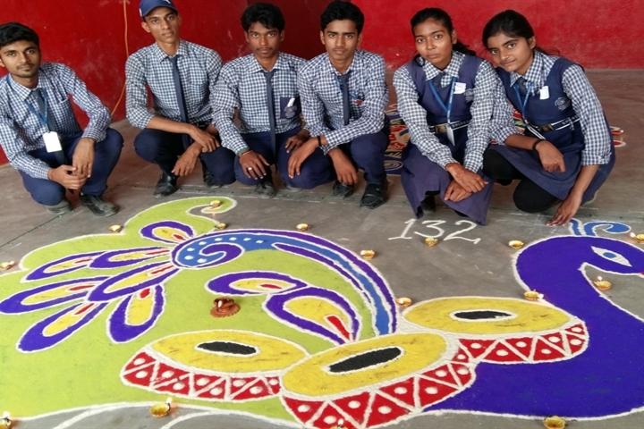 Sacred Heart School-Rangoli Competition