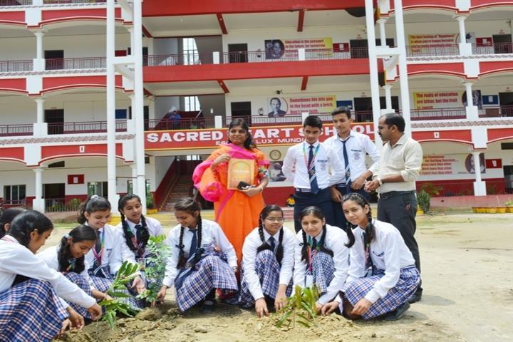 Sacred Heart School-Tree plantation
