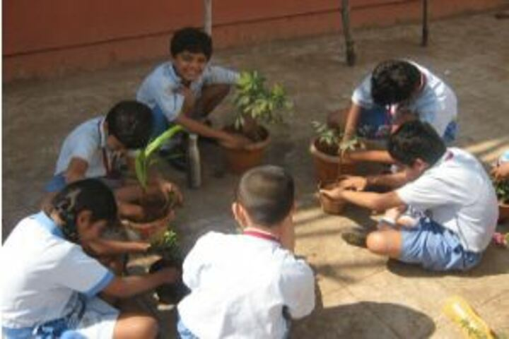 Sanskar International School-Earth day