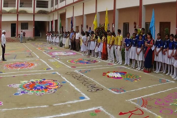 Sarvoday Pulic School-Rangoli
