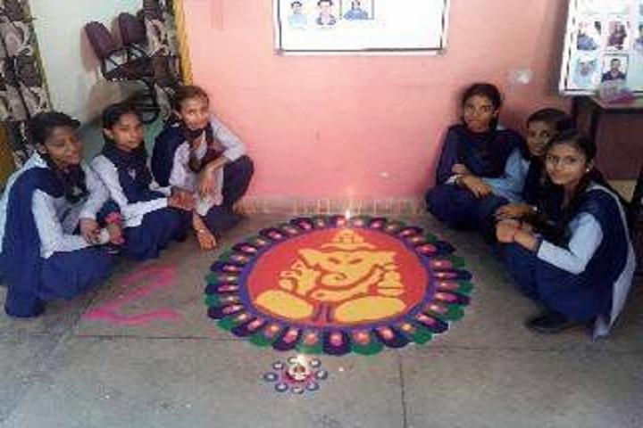 Government High School-Rangoli competition