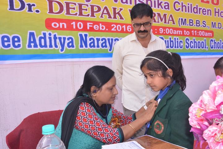 Shree Aditya Narayan Singh Public School-Health Checkup
