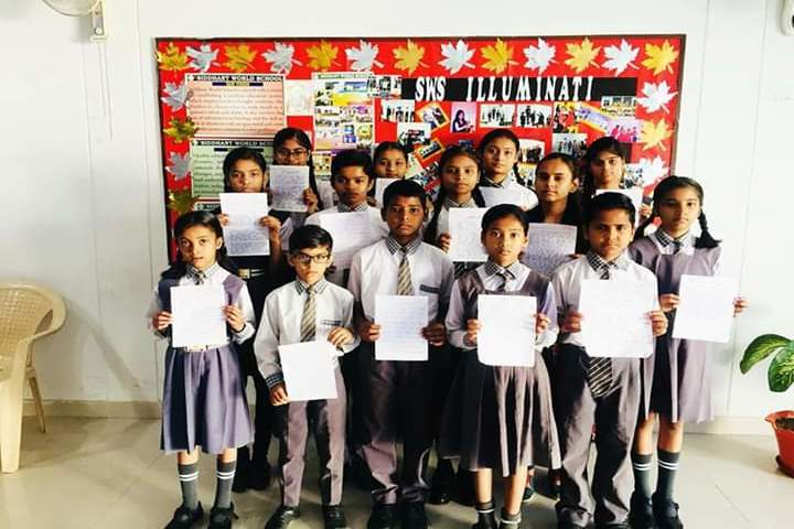 Siddharth International School-Hindi and English transcription activity