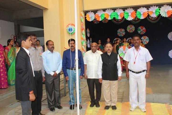 Gmr Varalakshmi Dav Public School-Flag Hoisting