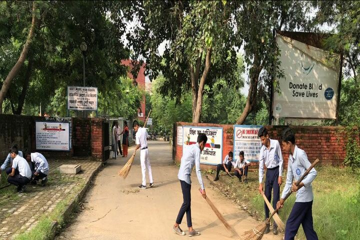 Government Model High School-Swachh Bharath