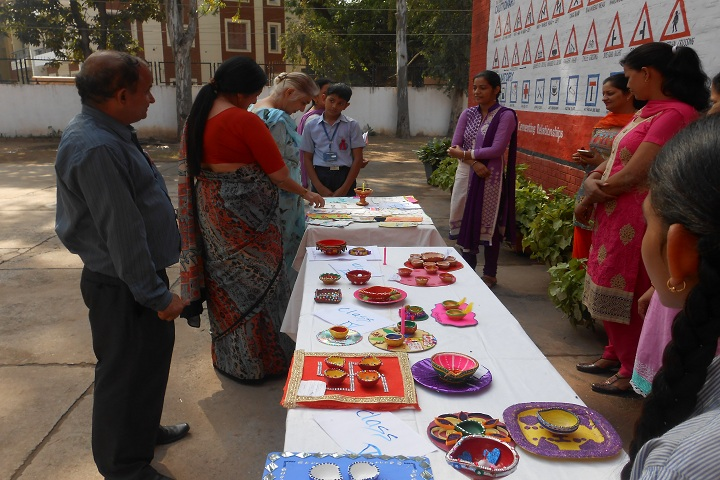Government Model Senior Secondary School-Diyas Making Competition