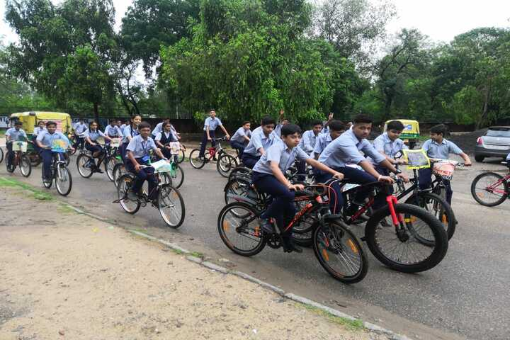 Government Model Senior Secondary School-Pollution Awareness with Cycle Rally