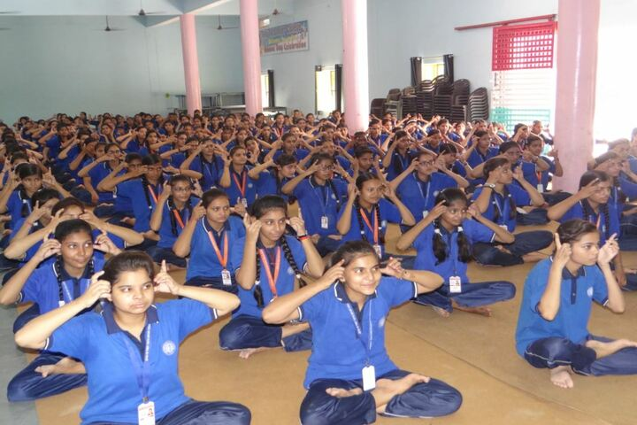 Tiny Tots English Medium School-Yoga Activity