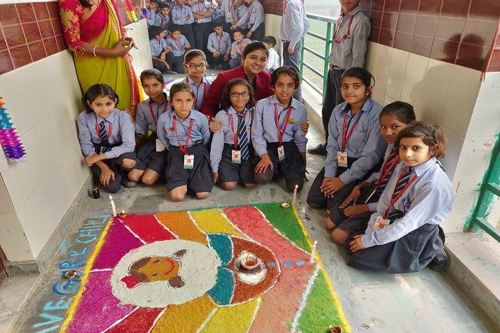 Vedantic International School-Rangoli Competition