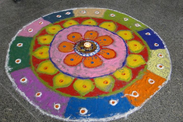 Vidhya International School-Rangoli Competition