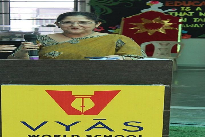 Vyas World School-Principal Speech
