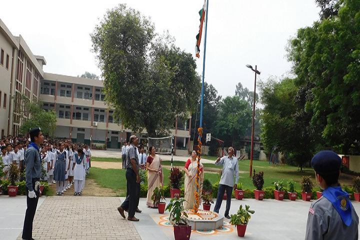 Adarsh Bal Nikethan Senior Secondary School-Flag Hosting