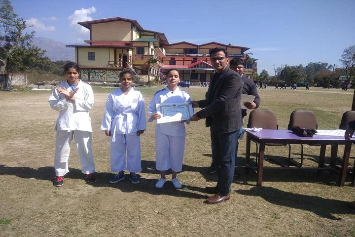 Anunaad Public School-Karate Certificate Distribution