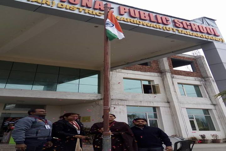 Braj International Public School-Flag Hoisting
