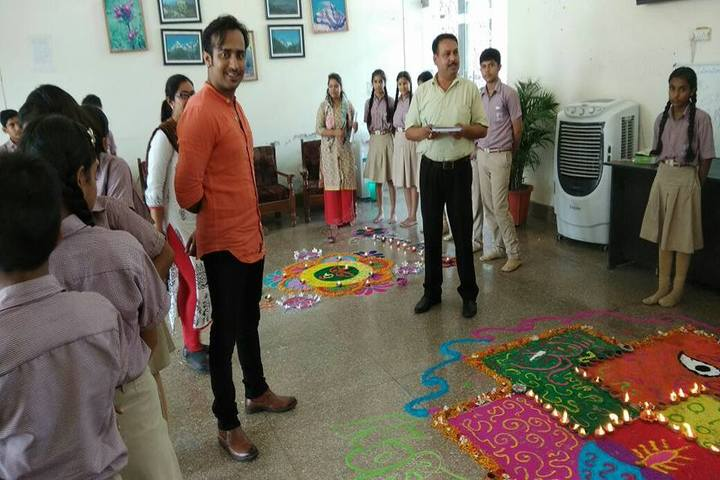 Braj International Public School-Rangoli Competition