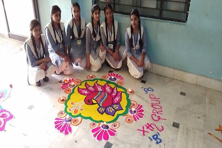 Chandra Shaikhar Senior Secondary Public School-Rangoli Competition