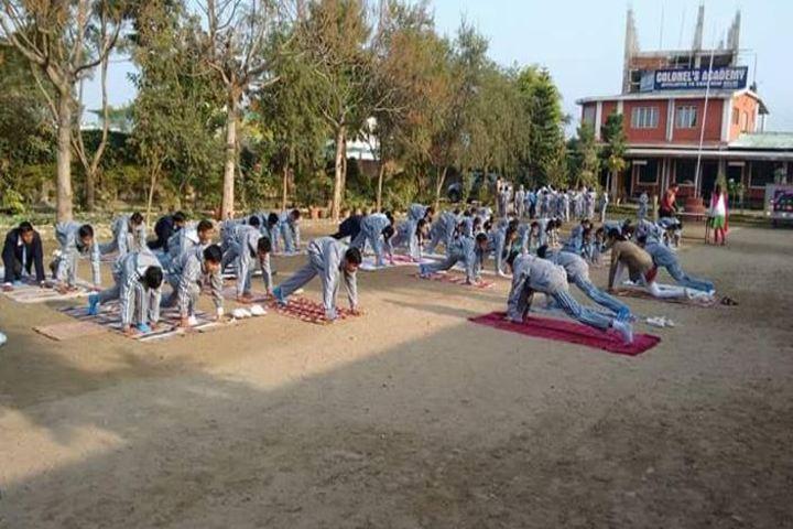 Colonels Academy-Yoga Activity
