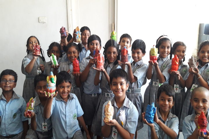 Green City English Medium School -  Clay Ganesha
