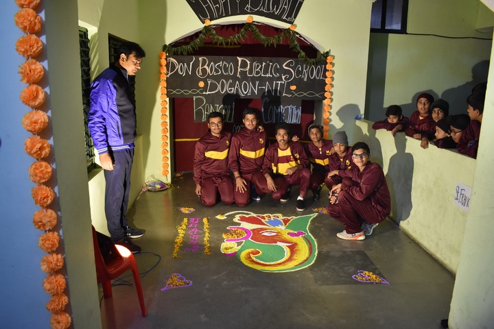 Don Bosco Public School-Rangoli Competition