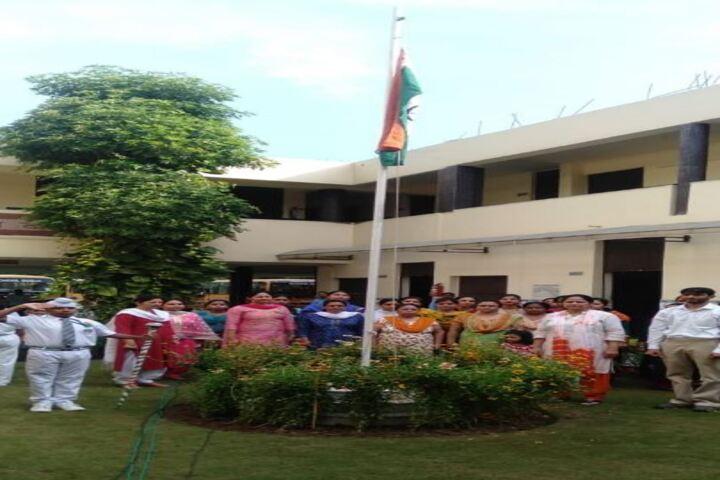 Maharishi Dayanand Adarsh Vidyalaya-Flag Hoisting