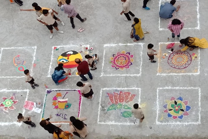 Heritage Academy-Rangoli Competition