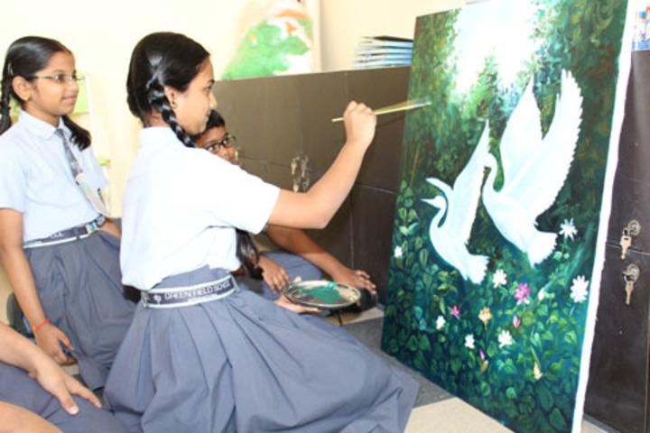 Green Field School-Painting