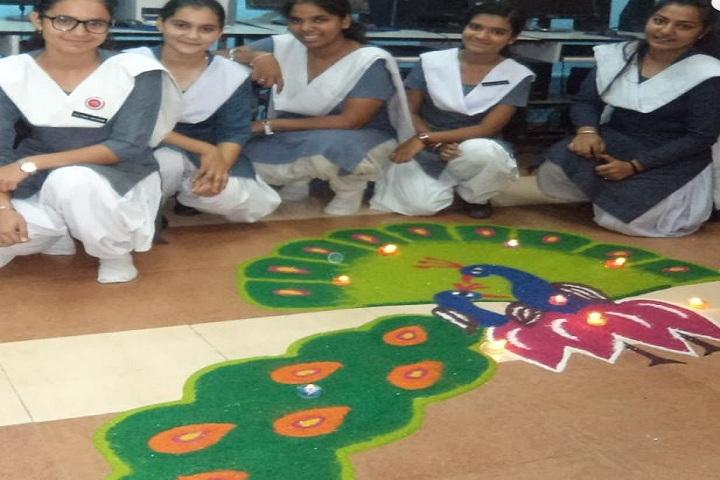 Pandit Mohan Lal Sanatan Dharama Public School-Rangoli