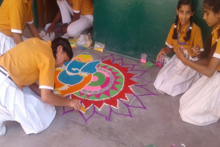Hope Way Public School-Rangoli